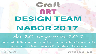 Nabór do Design Team CraftART 2017